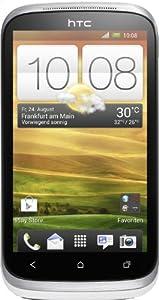 HTC Desire X Smartphone (1 GHz Dual-Core Prozessor, 10,2 cm (4 Zoll) Touchscreen, 5 Megapixel Kamera, 4 GB interner Speicher, microSD-Kartenslot, Android 4.0.4) neutral weiß