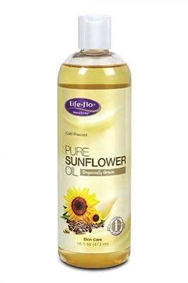 Life-Flo Organic, Cold Pressed, Pure Sunflower Oil - 16 oz
