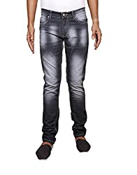 John Wills Men's Slim Fit Jeans (MCR1007--30, Black, 30)