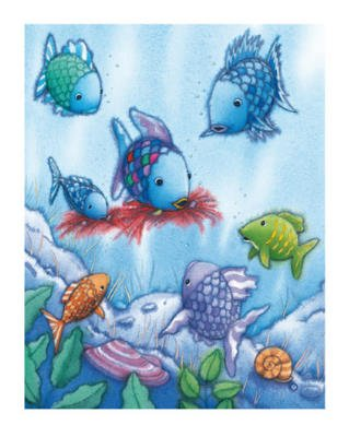 Marcus Pfister The Rainbow Fish V Foil Art Print Poster - 16x20