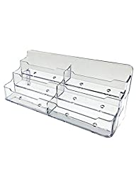 12 Pack of 6 Slot Clear Plastic Business Card Holder Counter Display