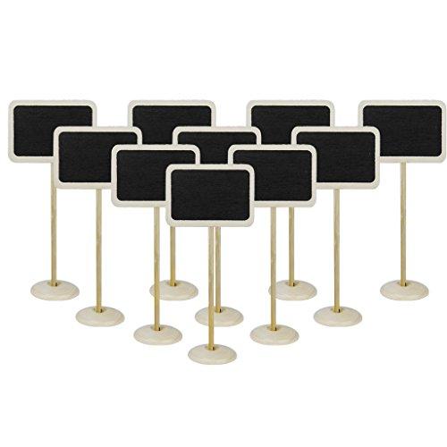 10pcs-tableaux-noir-memo-de-forme-rectangulaire-en-bois-avec-base