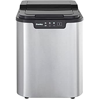 Danby Countertop Ice Maker Stainless Steel : Amazon.com: Danby DIM2500SSDB Portable Ice Maker, Stainless Steel ...