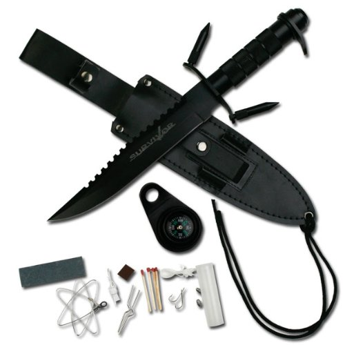Survivor 14-Inch Overall Survival Black Knife