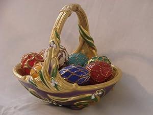 Faberge Spring Egg Basket Franklin Mint Collection