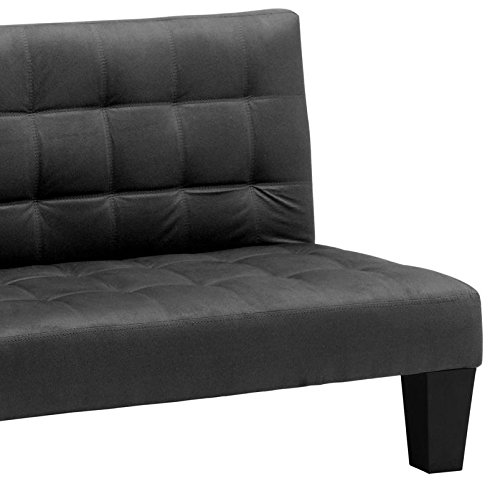 Dhp Ariana Junior Microfiber Sofa Futon Couch Black Perfect For Childrens Playroom Furniture