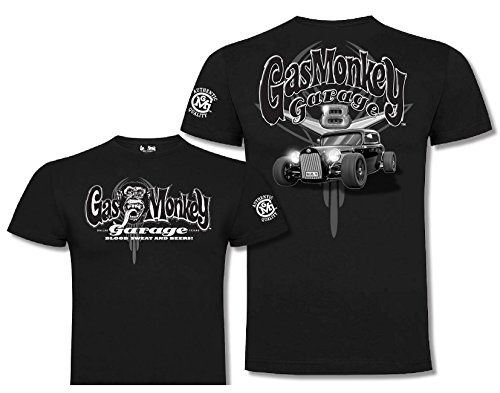 Gas Monkey Garage T-Shirt Side Monkey, Farbe:black;Größe:M