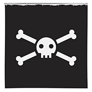 jolly roger vinyl shower curtain