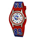 Ravel Children's 3D USA Boy's Quartz Watch with White Dial Analogue Display and Multicolour Plastic Cuff R1521.10