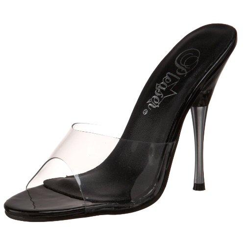 Pleaser Women's Entice-101 Sandal,Clear/Black,11 M US