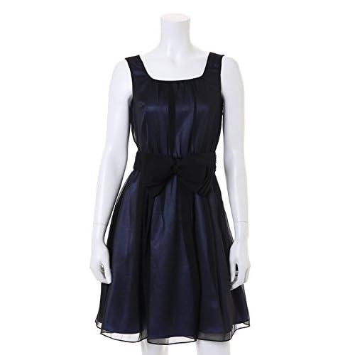 (クリアインプレッション)Clear Impression dress オーガンジーシフォンワンピース ブラック 02