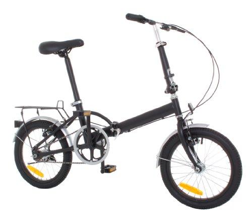 """Vilano Omega 16"""" Steel Folding Bicycle - Rack & Fenders"""