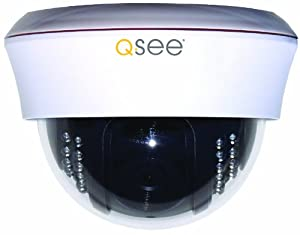 Q-See QSC211D Indoor Dome Color CCD Camera with 40 Feet of Night Vision