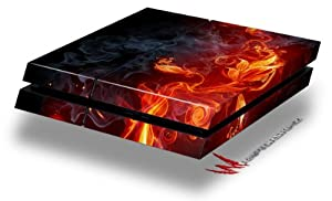 Fire Flower - Decal Style Skin fits original PS4 Gaming Console