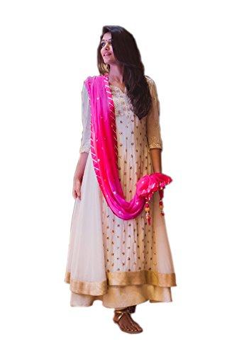 Phoenix Women's Net Salwar Suit Dress Material (LF399_blue)