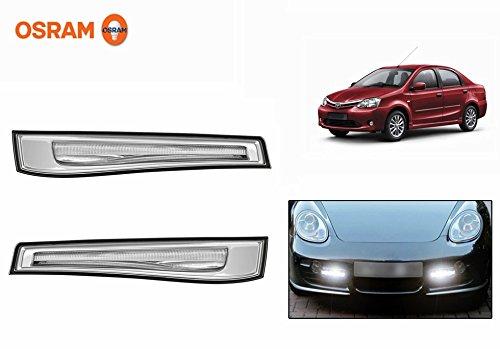 Osram Car 6000K LED Day Time Running Lights DRL101 BK-Toyota Etios