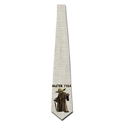 HOTOU Personalized Men's Star Wars Master Yoda Fashion Tie Skinny Neckties (Yoda Bowl)