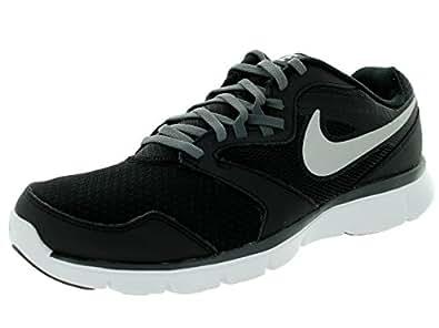 Nike Men's Flex Experience Rn 3 4E (Wide) Black/Mtllc Slvr/Drk Gry/White Running Shoe 8 4E Men US