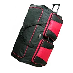 Extra Large 154ltr trolley holdall - red from Sunrise