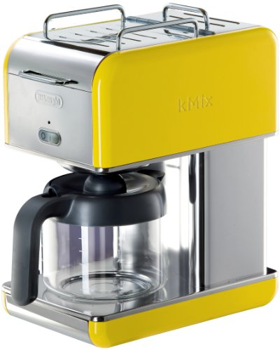 DeLonghi Kmix 10-Cup Drip Coffee Maker, Yellow