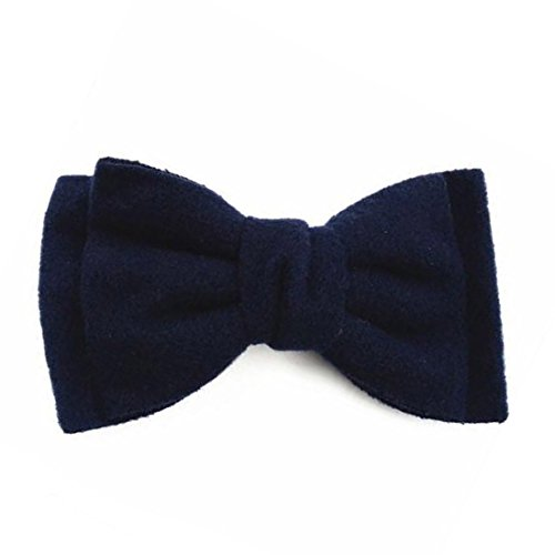korean-style-hair-clip-fashion-cute-hairpins-gig-bow-for-women-decor-accessory-dark-navy-blue