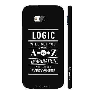 Enthopia Designer Hardshell Case Use Your Imagination Back Cover for HTC One M7