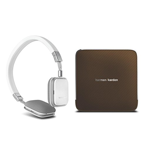 Harman Kardon Esquire Wireless Speaker System (Brown) And Soho Headphones For Ipod (White)