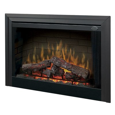 """Electraflame 45"""" Built-In Electric Firebox With Glass Door And Trim"""