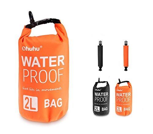 Ohuhu Dry Sack/ Waterproof Bag for Boating, Kayaking, Hiking, Snowboarding, Camping, Rafting, Fishing and Backpacking, Orange