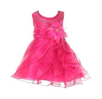 1f27e8a8f Cinderella Couture Baby-Girls Cascading Organza Rhinestone Flower Girl Dress