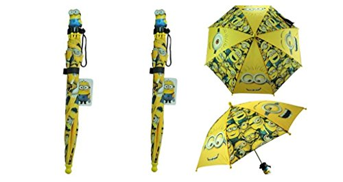 Despicable Me 2 Minions Umbrella Molded Handle for Children and Toddler X 2