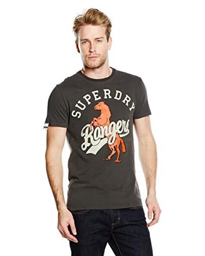 Superdry T-Shirt Manica Corta Rangers Tin Tab Tee [Nero Delavé]