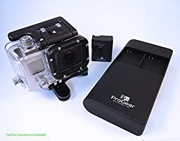Dual GoPro Battery Charger and Quantum PowerBank USB Charger PLUS TWO FREE high capacity GoPro Hero 3 Compatible Batteries INCLUDED!