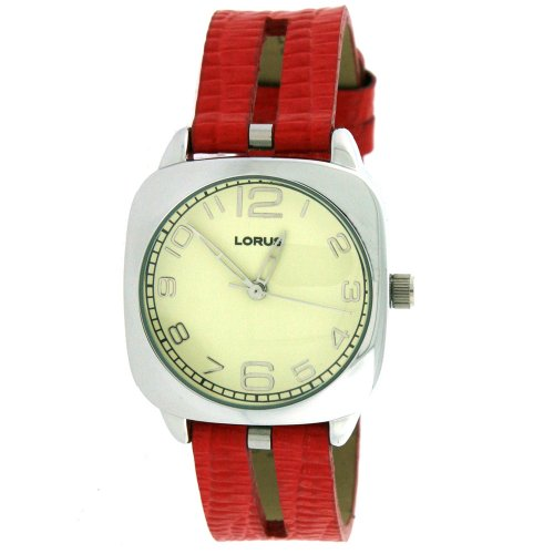Lorus by Seiko Ladies Red Leather Quartz Watch LR3008