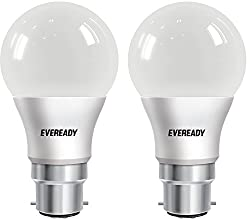 Eveready Base B22D 8-Watt LED Bulb (Pack of 2, Cool Day Light)