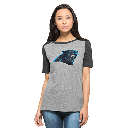 NFL Carolina Panthers Women's '47 Empire Tee, X-Large, Vintage Grey
