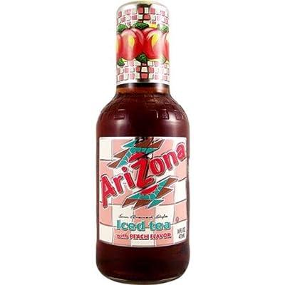 Arizona Iced Tea with Peach Flavour 16 FL OZ (473 ml) - 1 Bottle von Arizon Beverages USA bei Gewürze Shop