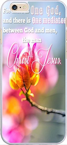 Case For Iphone 6 Christian Theme,Apple Iphone 6 Case Beautiful Flowers Printing Plastic Case Cover Christian Theme For there is one God And there is one mediator between God and men the man