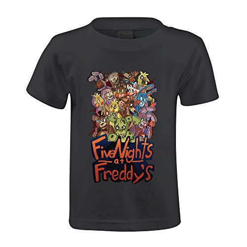 Toypop Five Nights At Freddy's Kids Cotton Crewneck T Shirts Personalized Black (Kids Personalized Tee Shirts compare prices)