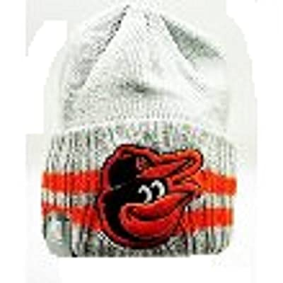 MLB Baltimore Orioles New Era Beanie Grey/ Orange OSFA