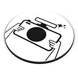 PosterGuy Photographer Camera, Minimal, Photographer, Photography, Photo, Capture, Illustration, Cartoon, Inspiration, Insp Fridge Magnet