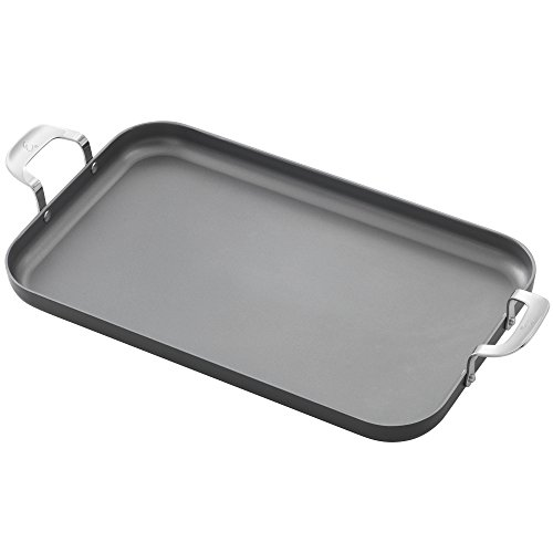 Emeril Lagasse 62929 Dishwasher safe Nonstick Hard Anodized Double Burner Griddle, 11