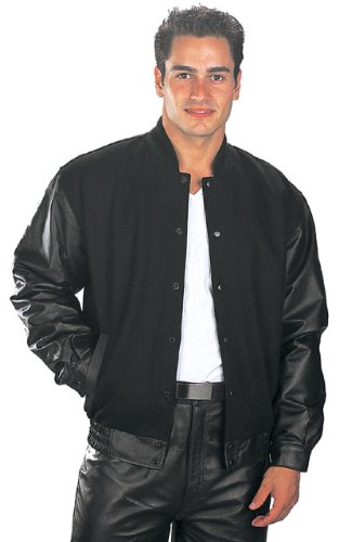 USA Leather Classic Mens Black Leather Jacket - X-Large (Outdoor Leather Jacket compare prices)