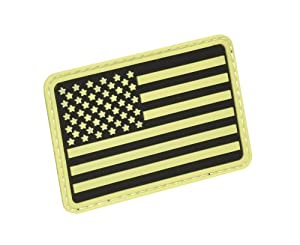 Hazard 4 US Flag Rubber 3D Velcro Morale Patch, Left Arm, Glow in the Dark