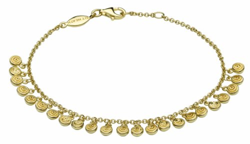 Kit Heath English Rose Drop Gold Plated Bracelet of 19.1cm