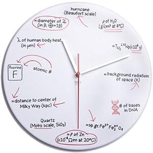 〔送料無料〕Science Quiz  サイエンスクロック 科学 時計 壁掛け時計 ウォールクロック