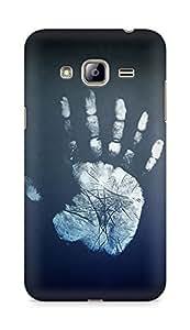 Amez designer printed 3d premium high quality back case cover for Samsung Galaxy J3 (2016 EDITION) (Hand impression)
