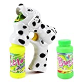 Dalmatian Dog Battery Operated Toy Bubble Blowing Gun W/ 2 Bottles Of Bubble Liquid, Batteries