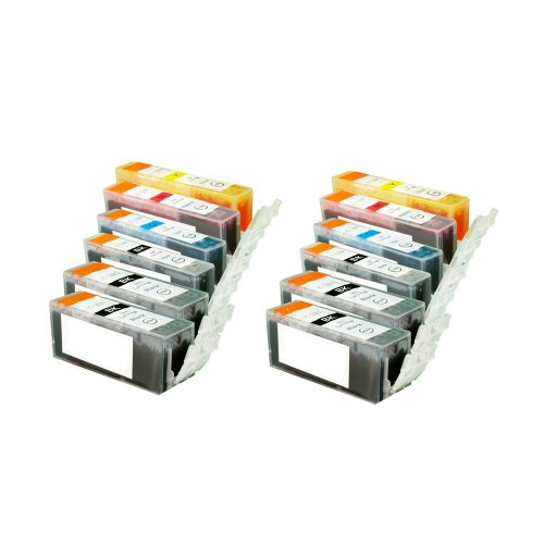 Compatible Canon Pgi225 & Cli226 Set Of 12 Ink Cartridges: 4 Black Pgi225, 2 Each Of Cli226 B/C/M/Y
