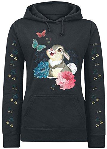 Walt Disney Bambi - Thumper Felpa donna nero S